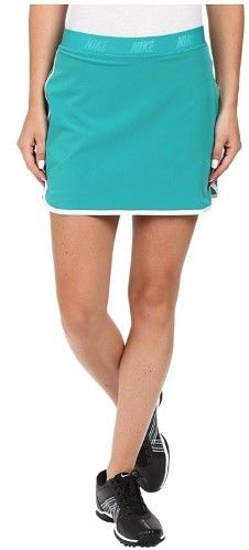 Nike Women's Dri-Fit Fringe Flip Golf Skorts-Teal-Large