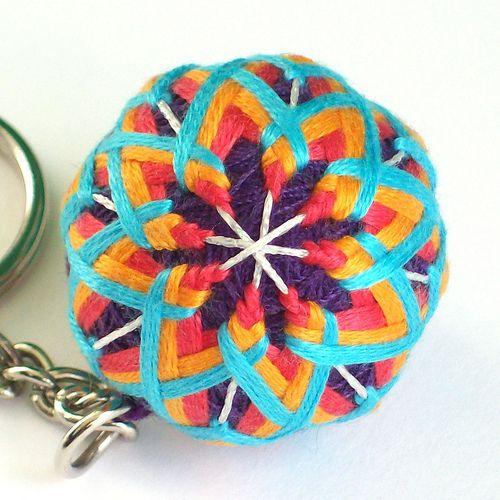 temari keychain  by Crafty Panties yarn