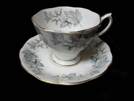 Royal Albert Silver Maple Fine bone China Cup by Cupsofthepast