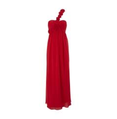 NIENTE Kleid mit Stoffblumen-Applikation