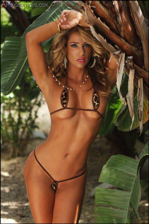 19.95$  Buy now - http://vibtu.justgood.pw/vig/item.php?t=xdypzj259812 - Leopard Print Sexy Mini Teardrop Bikini Micro G-String USA Made Exotic w/ Brown 19.95$