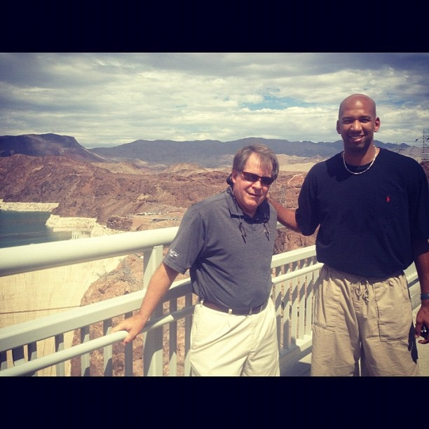 Monty Williams & Dave Hanners did some sight seeing while the team is in Vegas! #HooverDam: Dave Hanners, Family Features