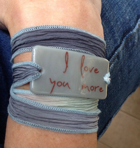 Personalized Bracelet fused glass wrap bracelet by DrinkingforArt
