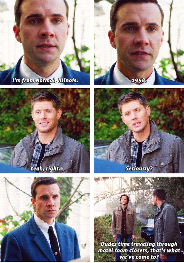 Even Dean is like really? Of all the shit we've been dragged through it's come to closet time travel.