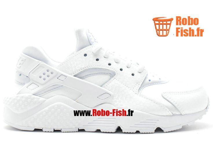 Nike Air Huarache Run Prm - Chaussure Nike Running Pas Cher Pour Homme Blanc 683818-100