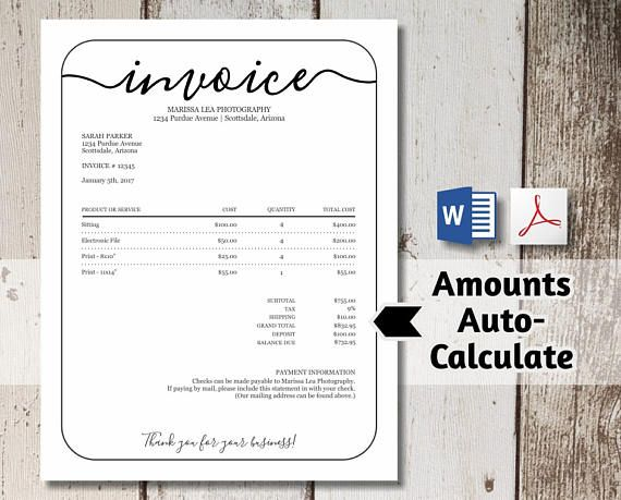 Best 25+ Printable invoice ideas on Pinterest Tooth fairy note - musician invoice template