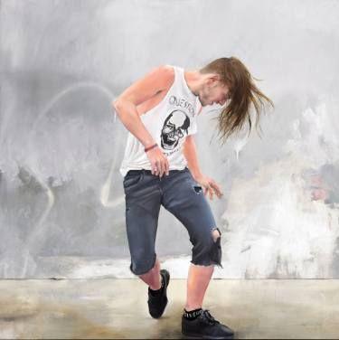 """Saatchi Art Artist Chris Stevens; Painting, """"Q & A"""" #art"""