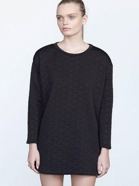 VIKTORIA & WOODS - Arcadia Sweater Dress - Black Quilt  $220.00
