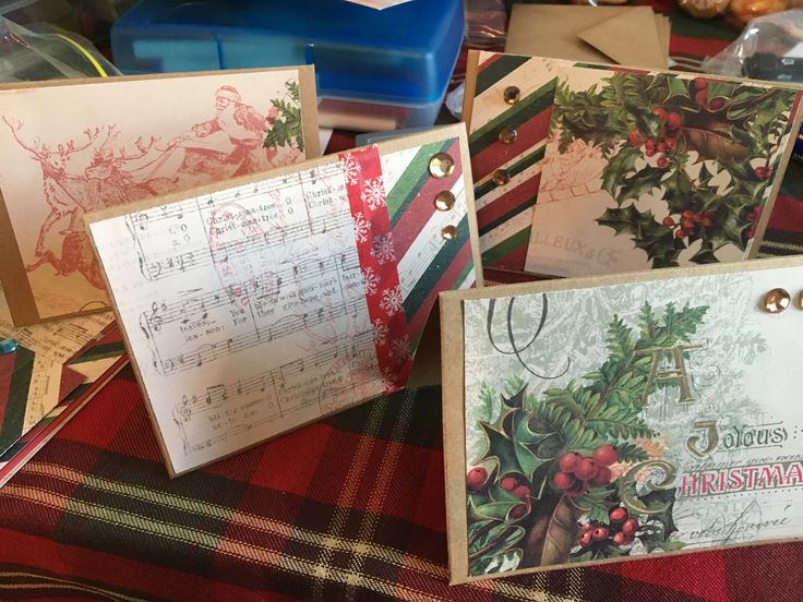 collection of vintage homemade cards