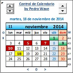 Drop Down Calendar Control Pedro Wave For Excel Guys Excel