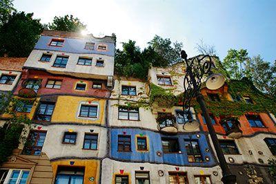 Hundertwasser hus i Wien