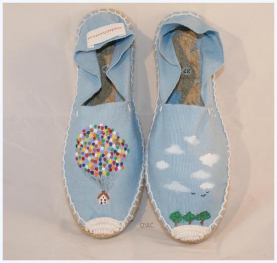 alpargatas pintadas (chica) up!  suela de goma y esparto,empeine de algodón estampación manual
