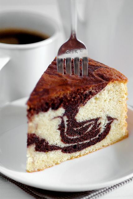 Marble Butter Cake - rich, chocolaty and buttery all in one. From a recipe older than I.