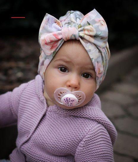 #knottedheadband in 2020 | Baby turban headband, Baby hat ...
