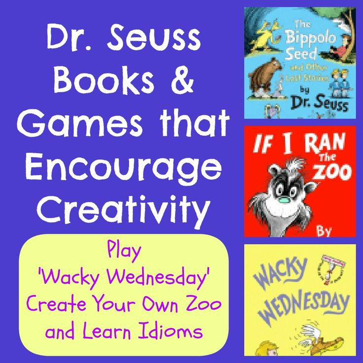 Dr. Seuss Books & Games that Encourage Creativity in Kids - great ways to have fun while learning to read!