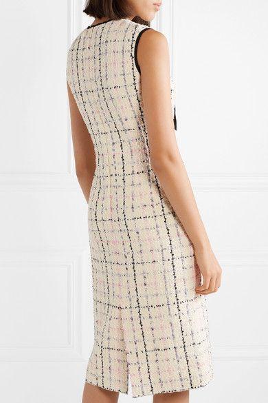 645886864e6 Gucci | Vestido de tweed a cuadros con ribetes de grosgrain |  NET-A-PORTER.COM