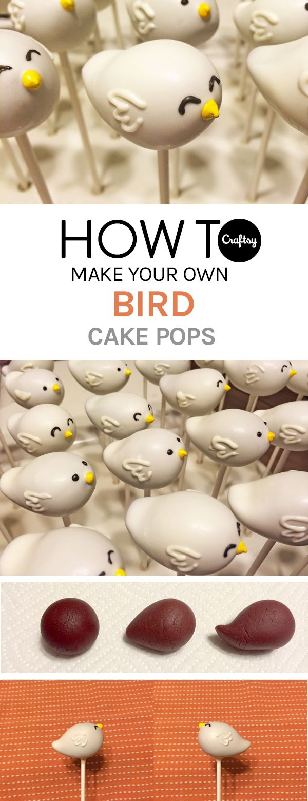 Everyone is chirping about these cute bird cake pops. Learn how to make them on the Craftsy blog.