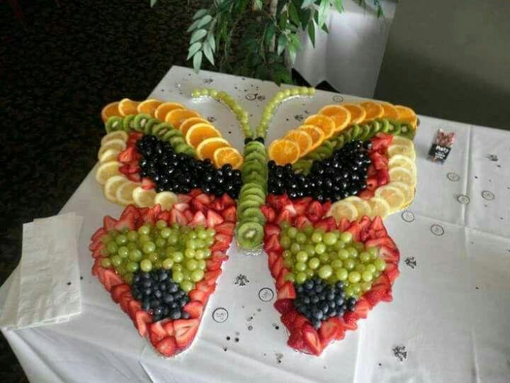 Butterfly-shaped fruit platter