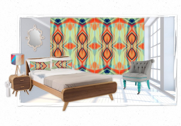 bliss wallpaper bedroom by additions | Olioboard