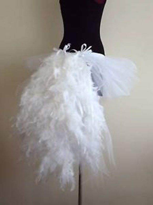 9402056597 White Swan Tutu skirt Burlesque all sizes avaliable feathers in 2019 |  Makeup | White tutu skirt, Feather tutu, Feather skirt