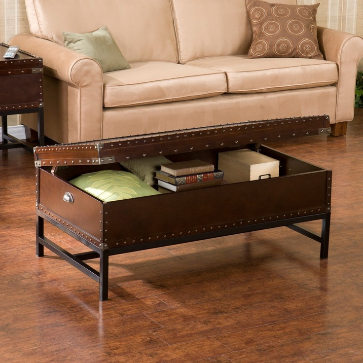 Southern Enterprises Voyager Espresso Trunk Coffee Table - Coffee Tables at Hayneedle $279.99