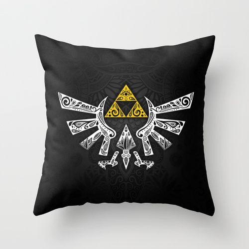 Zelda Hyrule Throw Pillow