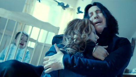 Lily (Geraldine Somerville) and Snape (Alan Rickman)