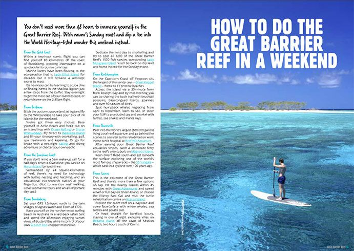 Make the most of your weekend at the Great Barrier Reef with the help of our ebook '101 ways to do the Great Barrier Reef' #thisisqueensland