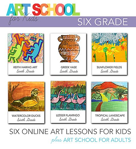 Art School for Kids: Online art videos for Sixth Grade