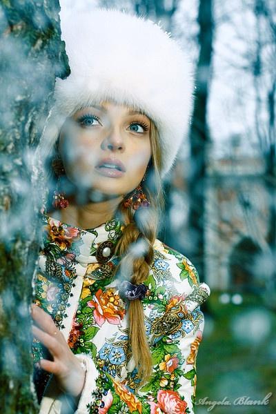 Russian beauty. Russian girls. Fashion. Folk. From Russia with love