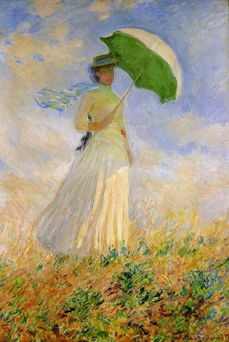 Woman with a Parasol - Claude Monet