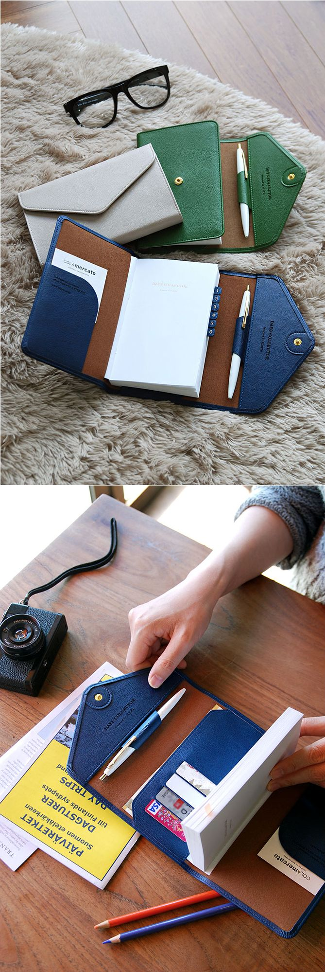 I think I've found the perfect travel accessory! This Leather Diary Wallet v1 is a planner, diary, and wallet combo! To top it off, it's beautiful too! I can leave my bulky wallet at home and slip essential cards and cash in here when I'm on the go. I can even journal my adventures and keep small mementos and souvenirs in the inside pocket! Now I can stay organized during my vacation and keep everything in one place. This will be the perfect travel companion for my next trip. ^.^ Check it…