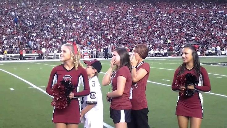 Surprise Military Family Welcome Home at South Carolina Football Game