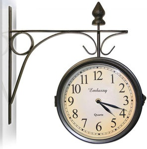 hanging clock | SIDE-WALL-MOUNT-HANGING-VICTORIAN-ANTIQUE-STYLE-OUTDOOR-CLOCK-AND ...