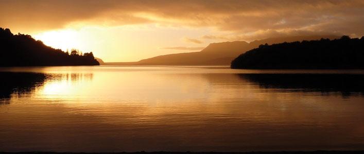 Lake Tarawera sunset. Photo by David Walmsley.