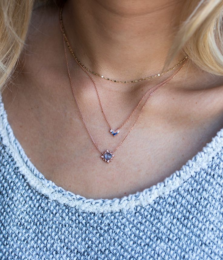 Rose Gold Chevron Necklace - Audry Rose