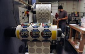 StickerGiant does big business in tiny town of Hygiene:  Custom sticker maker printed 9,300 miles of stickers in 2014 (Denver Post 31 December 2015)