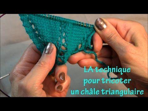 Châle triangulaire : LA technique - YouTube