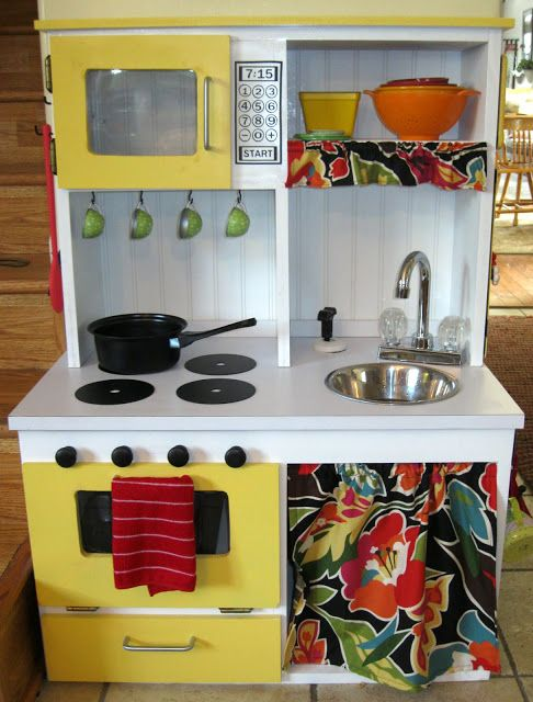 DIY Play Kitchen Tutorial. This is a General Overview of How My Mother-In-Law Made a Toddler Dream Kitchen - Running Water and All!!!