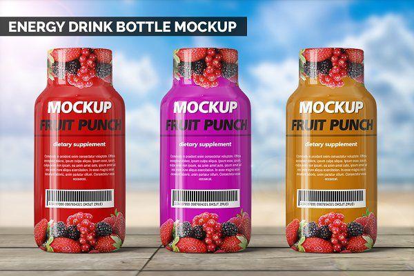 Protein Energy Drink Bottle Mockup Psd Mockup Free Mockups Psd Bottle Mockup Energy Drinks Drink Bottles