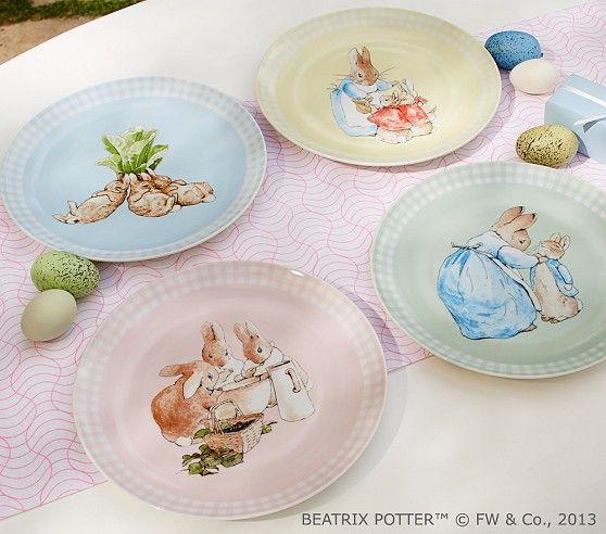 Peter Rabbit Ceramic Plate Set Pottery Barn Kids