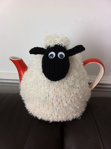 "Hand Knitted Shaun the ""Woolly"" Sheep Tea Cosy - love it for hajj Eid."
