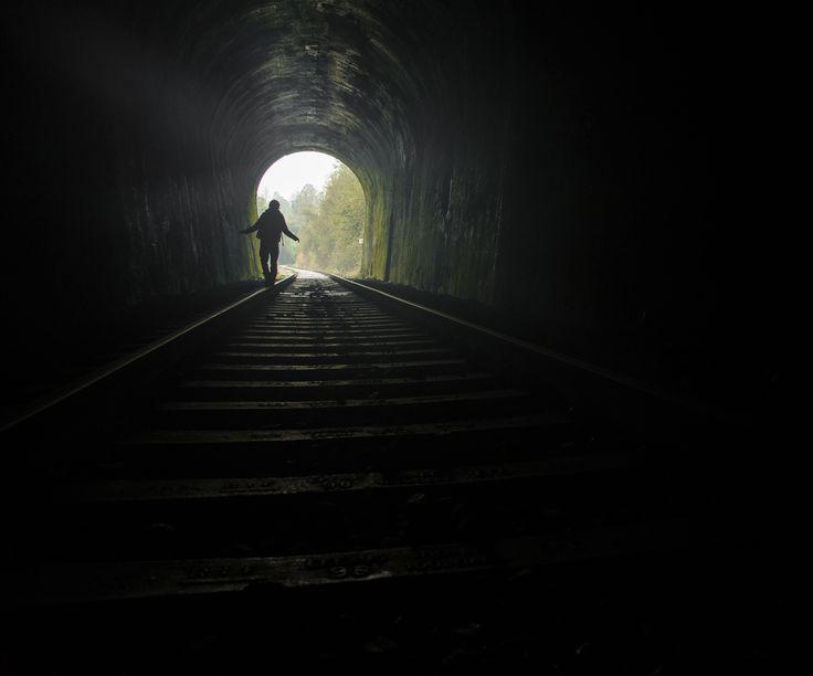 Tunnel 02 / tunel 02 Los Lagos, Chile #tunnel #dark