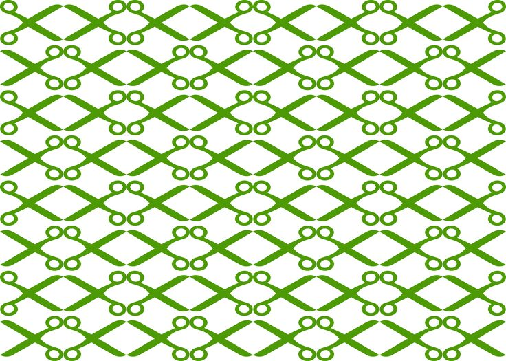 Openclipart Scissors Pattern Challenge by @openclipart, Our Wikipedia (en.wikipedia.org/wiki/Openclipart) entry mentions how we used to have contests and challenges on Openclipart. The new Challenge section on the site brings this back with a refresh. Here is a challenge to create an interesting pattern with the Openclipart scissors. Pick your color, and patterns. This first one is using Inkscape's clone tiler to make reflection   glide reflection in an 8 by 8 grid. What can you do? Submit…