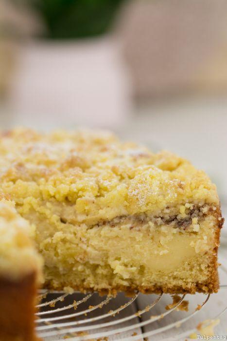 Streuselkuchen Apfelkuchen Streusel Quark Nüsse Rezept