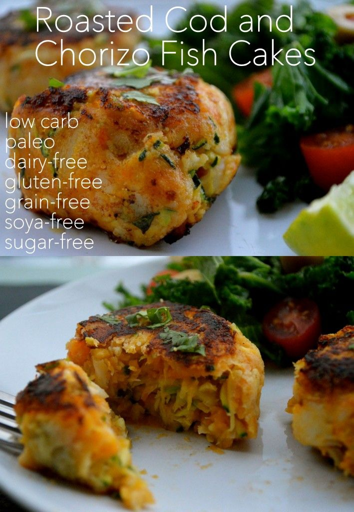 Flourless grain free and dairy free roasted cod and for How to make cod fish cakes