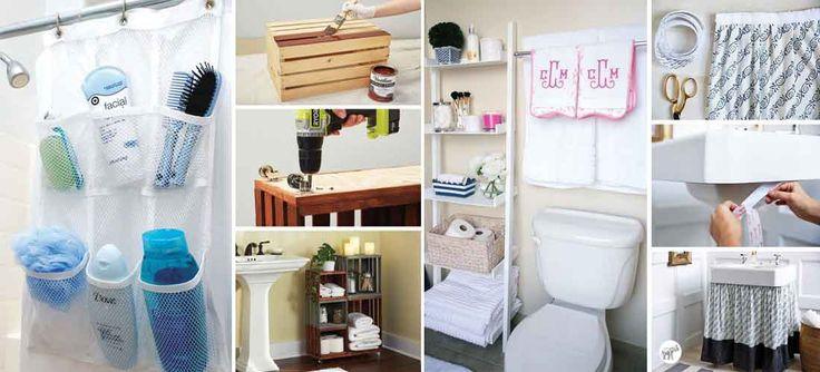 20 ideas geniales para organizar y decorar tu baño ...