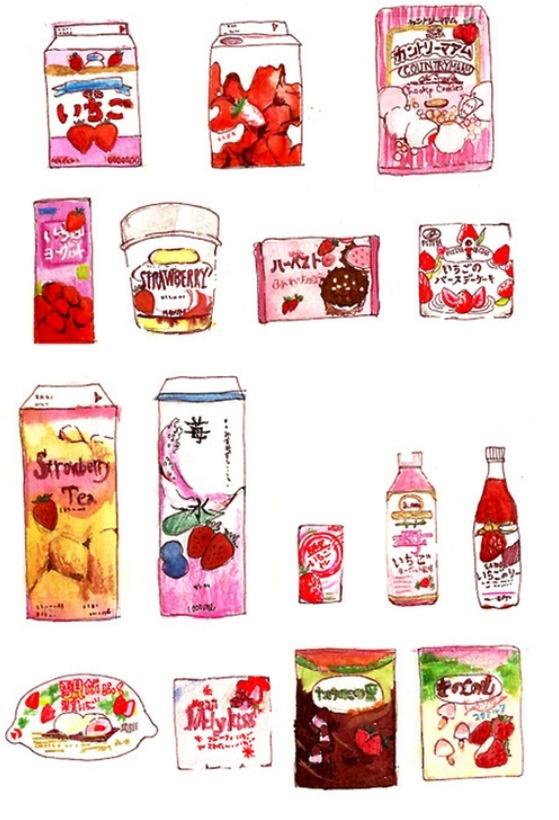 Strawberries (Dengan gambar) Seni makanan