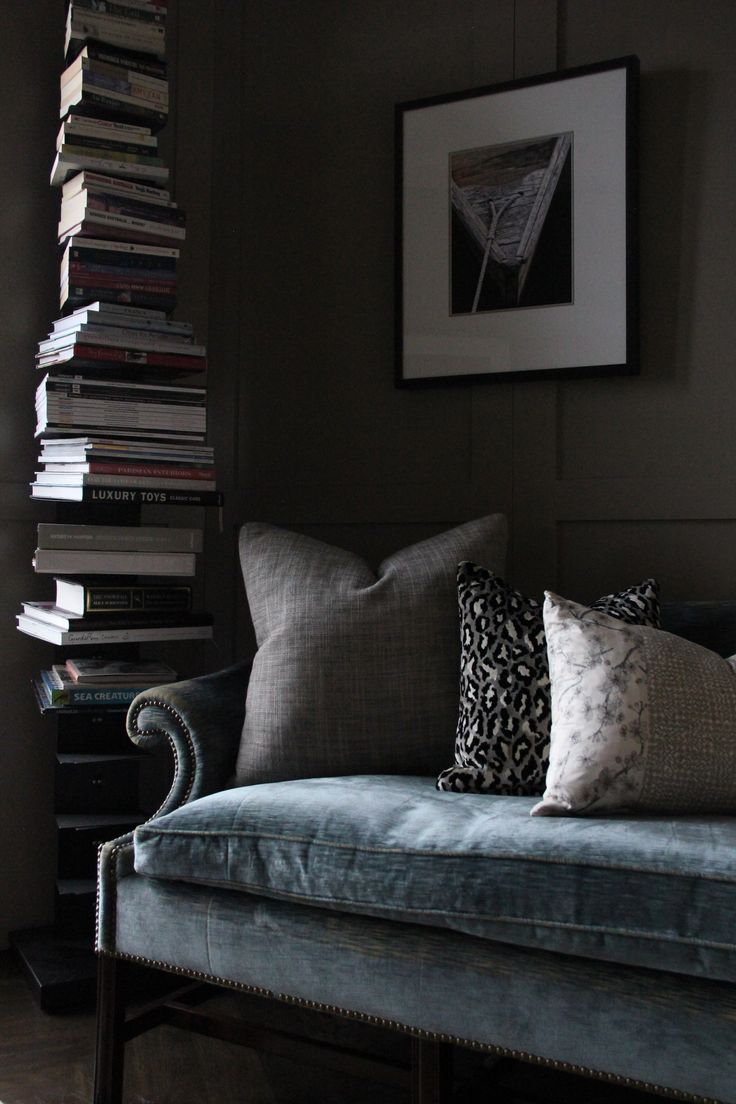 East Melbourne residence. Vintage french sofa in a study. Interior design by Beautiful Room