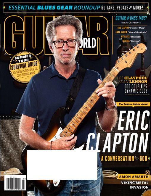 GUITAR WORLD Magazine July 2016 ERIC CLAPTON, Les Claypool, Sean Lennon, Santana